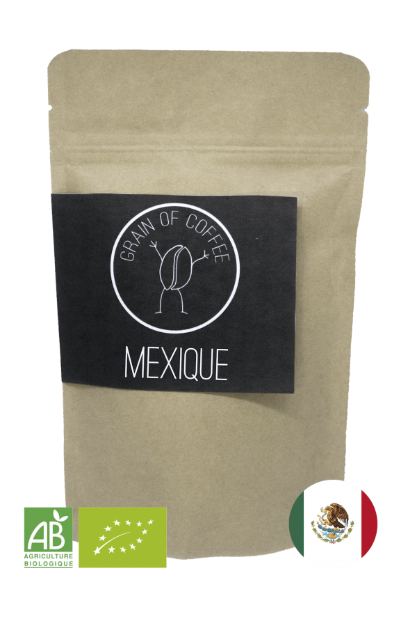 café du mexique grain of coffee Chiapas bio